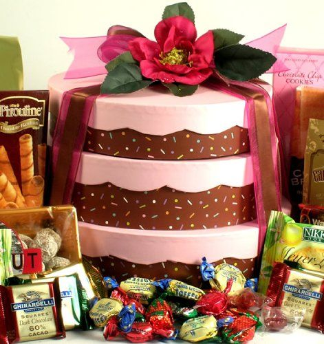 Deluxe Birthday Cake Gift Tower