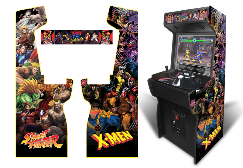 Custom Permanent Full Size X Men Vs Street Fighter Inspired Graphics For Xtension Arcade Arcade Video Game Genre Street Fighter