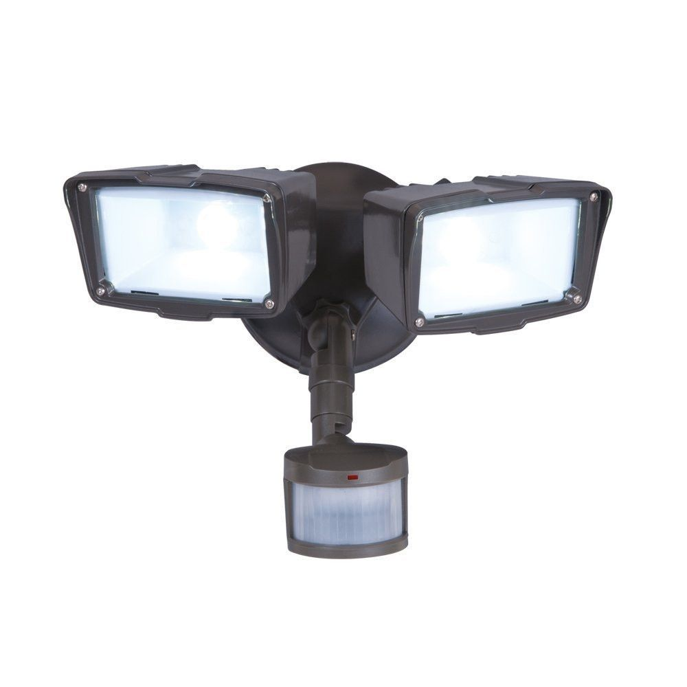 Motion activated energy star led 2 head floodlight outdoor security motion activated energy star led 2 head floodlight outdoor security light mozeypictures Image collections
