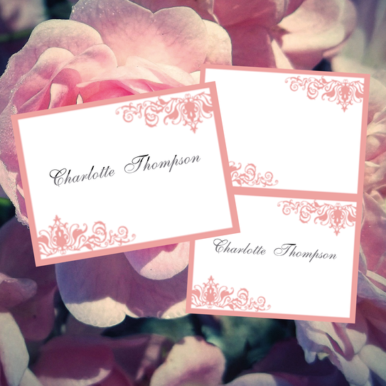 beautiful name place cards ready to edit and print