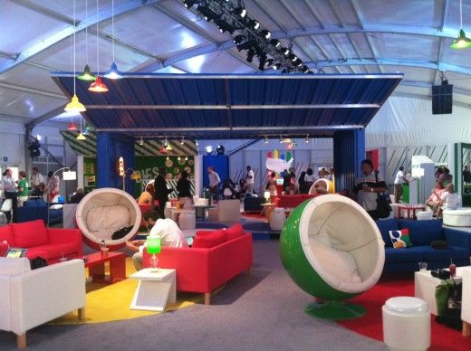 Check out the awesome 'pop-up' GooglePlex at the DNC, feat. shipping containers
