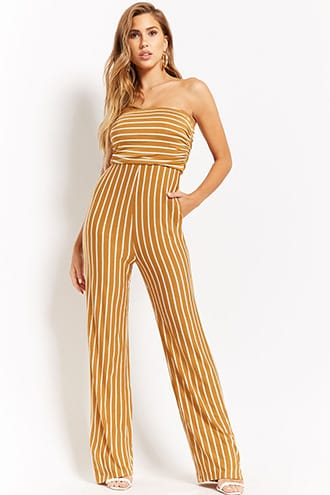 c8a18ad8e276 Strapless Striped Jumpsuit