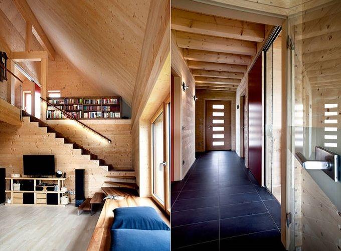 das hightech holzhaus von bauherr erwin thoma pinterest holzh uschen innenarchitekt und holzbau. Black Bedroom Furniture Sets. Home Design Ideas