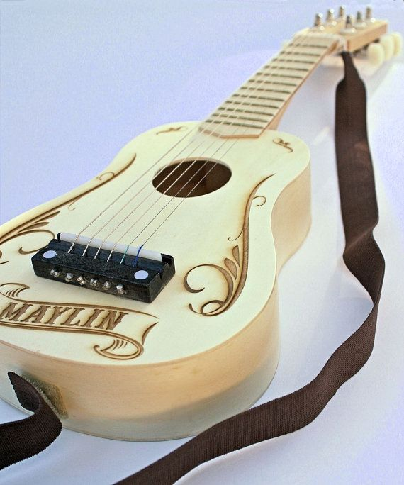 Engraved Guitar Personalized Kids Toy Kids Toy Gift By Scissormill Personalized Gifts For Kids Gifts For Kids Kids Toy Gifts
