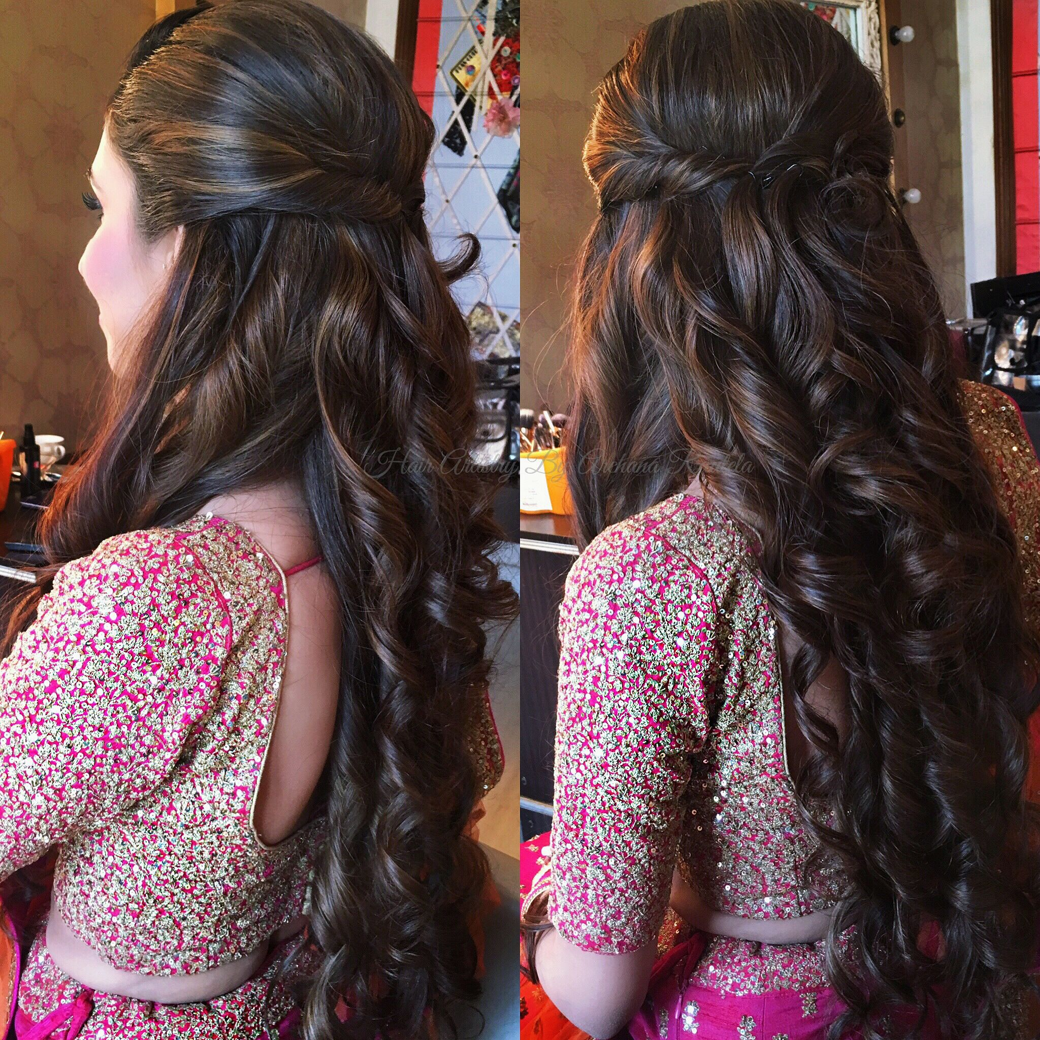 Long Hair Love Hair Artistry By Archana Rautela Engagement Hairstyles Party Hairstyles For Long Hair Long Hair Styles