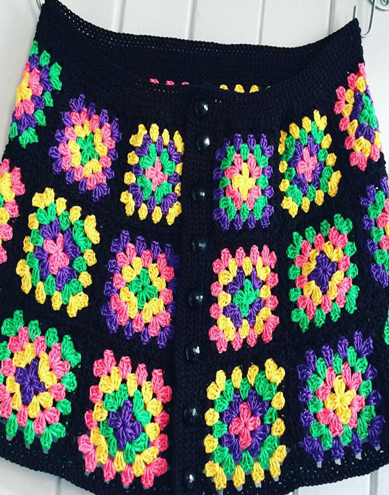 How To Make A Granny Square Skirt | Häkeln | Pinterest | Häkeln