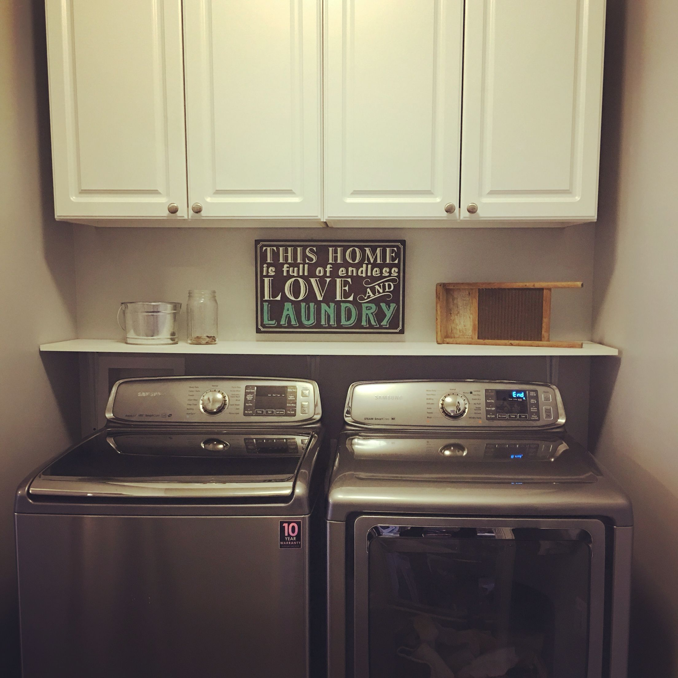 Simple Laundry Room Makeovers Small Laundry Room Makeover Our House Pinterest Small
