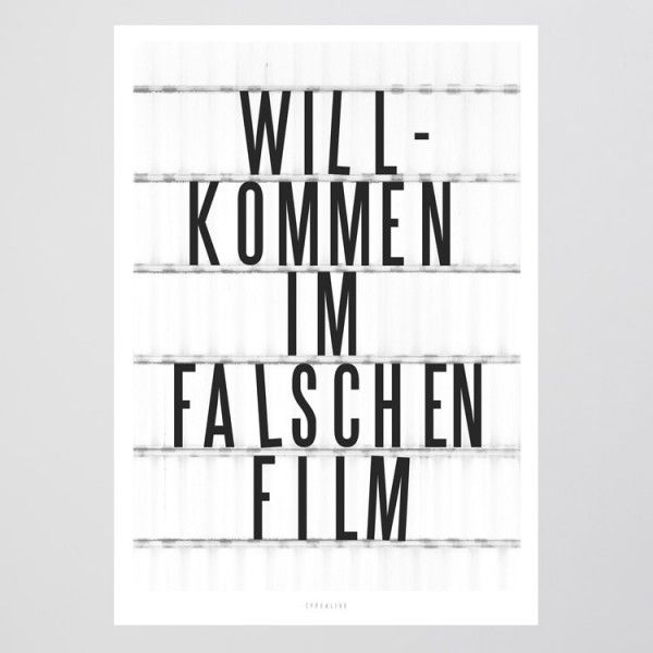 typealive / Falscher Film | selekkt – Heim für junges Design #filmposterdesign