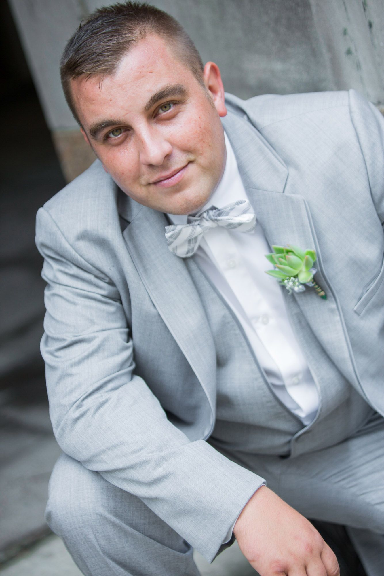 Groom in gray suit portrait | Rush Productions - Groom Solo Photos ...