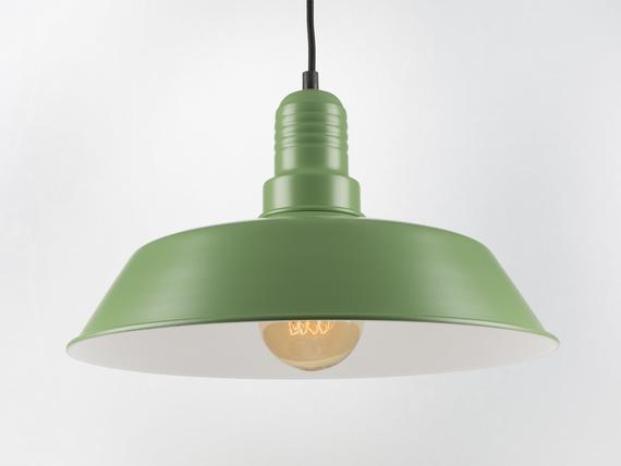 Emil Ceiling Pendant Lamp Green Retro Loft Industrial Minimalist Lamp Ceiling Pendant Pendant Lamp Ceiling