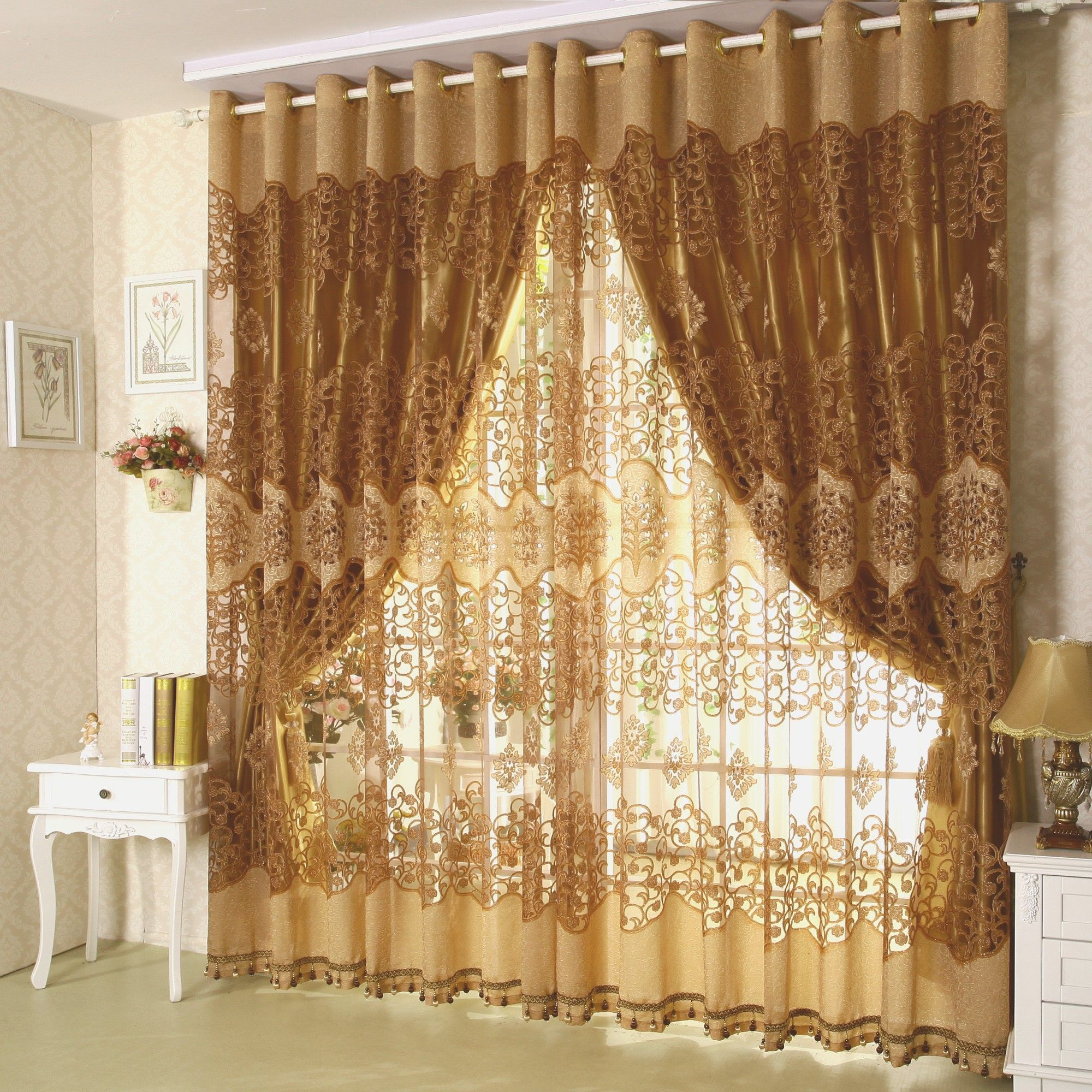 Concepts For Dangle A Scarf Valance Curtains For Living Room