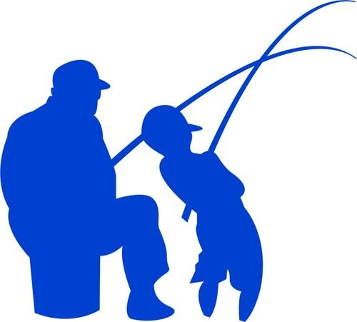 Pescando Pescador Dibujo Silueta De Nina Dibujos De Motocross