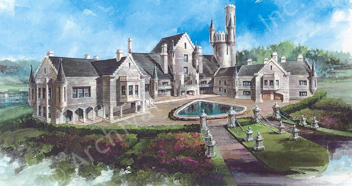Balmoral castle plans luxury home plans lap pools for Castle style house plans