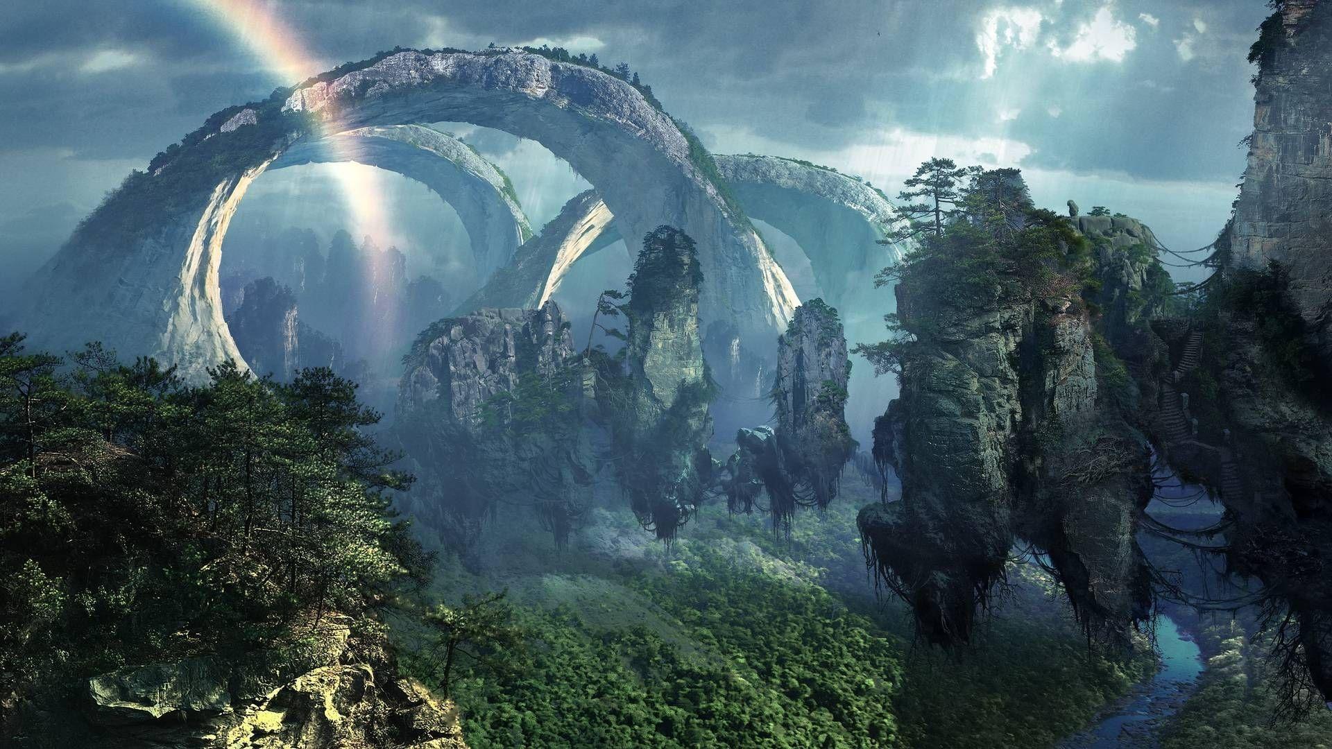 10 Most Popular Epic Fantasy Desktop Backgrounds Full Hd 1080p For Pc Desktop Fantasy Landscape Fantasy Art Landscapes Dream Landscape
