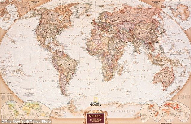 Lets get personal femail picks the best customized christmas gifts personalized pin your journeys world map 159 custom wall map from with 100 color gumiabroncs