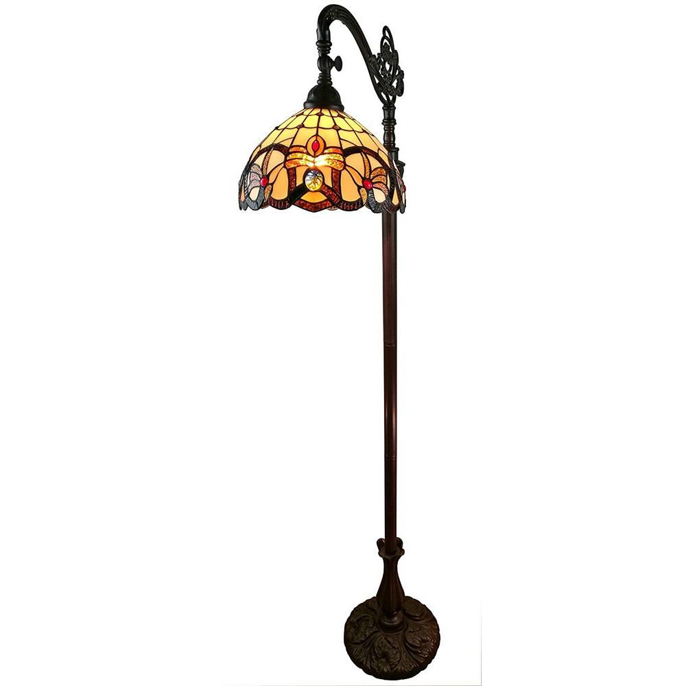 Amora Lighting 62 In Tiffany Style Multicolored Victorian Reading