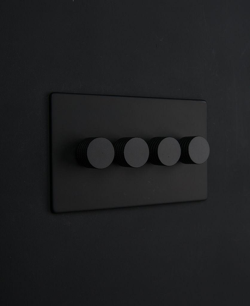 Dimmer Light Switch Black Quadruple Dimmer Switch Modern Light