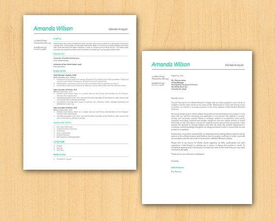 Green Simple Elegant Microsoft Word Resume Template  By Inkpower