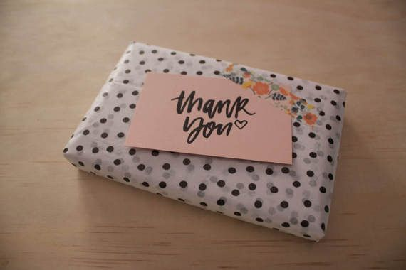 Thank You rubber stamp by WoodruffandCo on Etsy