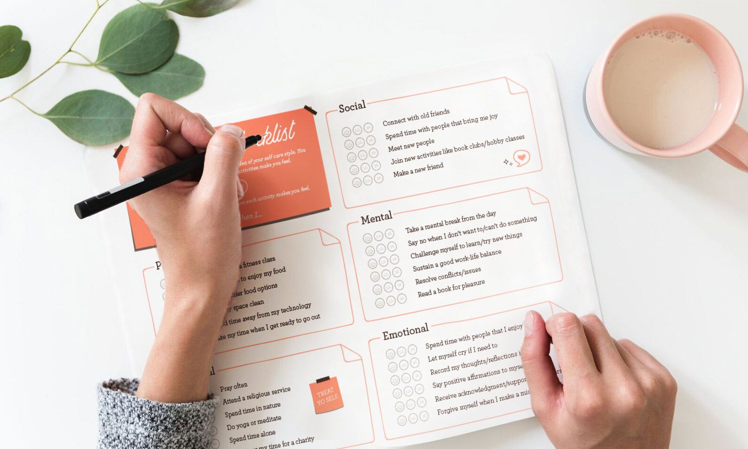 Self Care Checklist And Wellness Printables For A Better