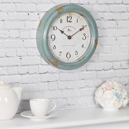 Teal patina wall clock also best new house images in diy ideas for home future rh pinterest