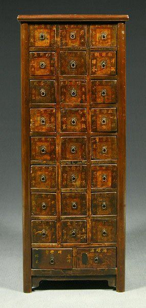 26 Drawer Chinese Apothecary Cabinet Nice Tall Cabinet Compared To The Usual Horizontally Oriented Apothecary Cabinet Vintage Industrial Furniture Apothecary