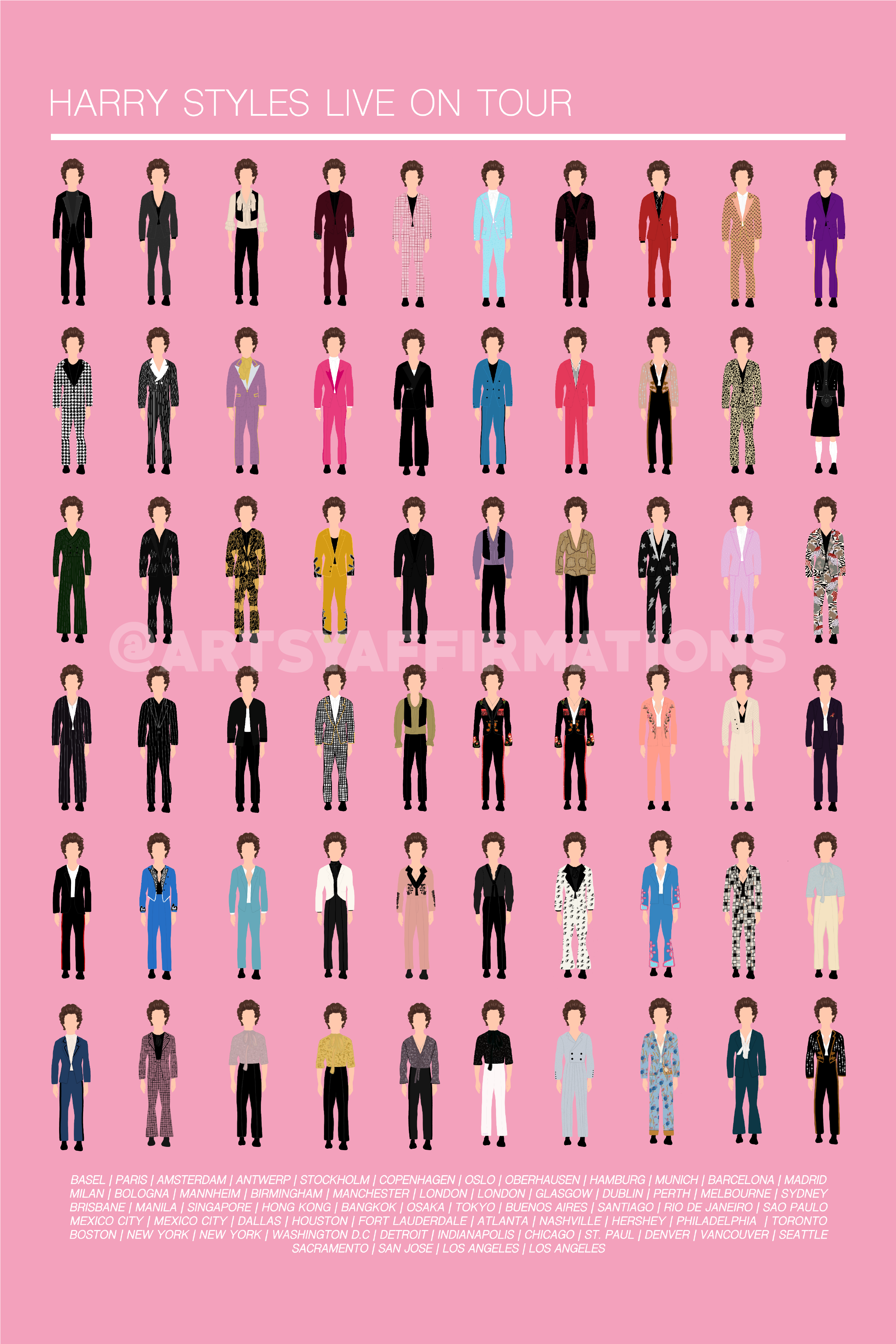 harry styles live on tour outfits