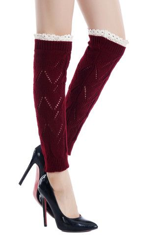 The Zig Zag Lace Trim Leg Warmer