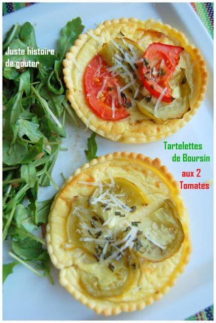Juste histoire de goûter: Tartelettes de Boursin aux 2 Tomates