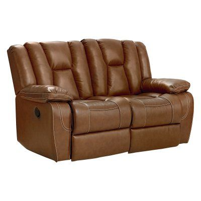 Standard Furniture Rainier Manual Motion Loveseat in Leather - 4097292