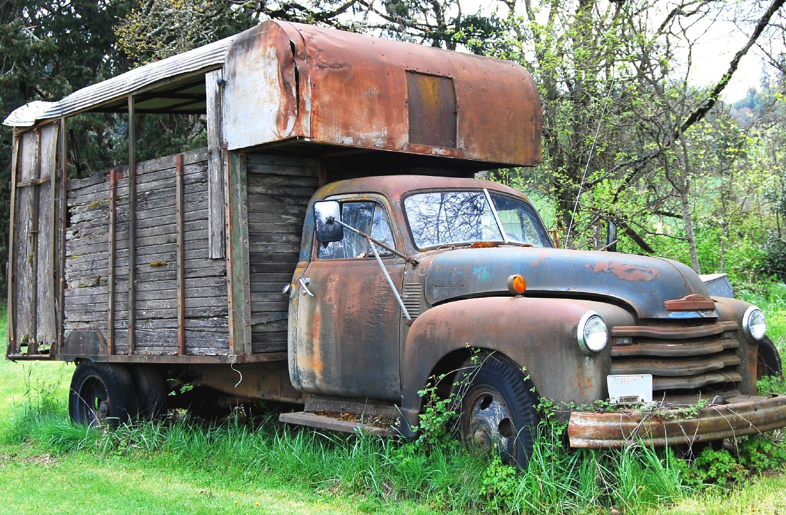 Old abandoned rusty truck, Sweden