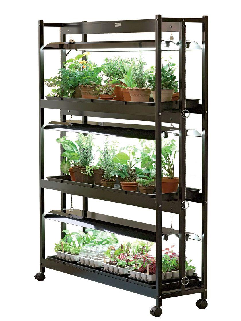 3Tier SunLite® Garden Shelves + Fluorescent T5 Bulbs