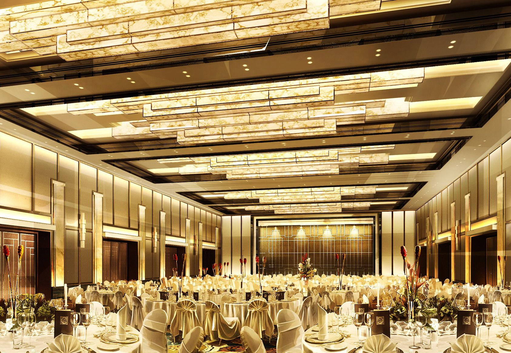 Ballroom Ballroom Ceiling Design According The Size Of