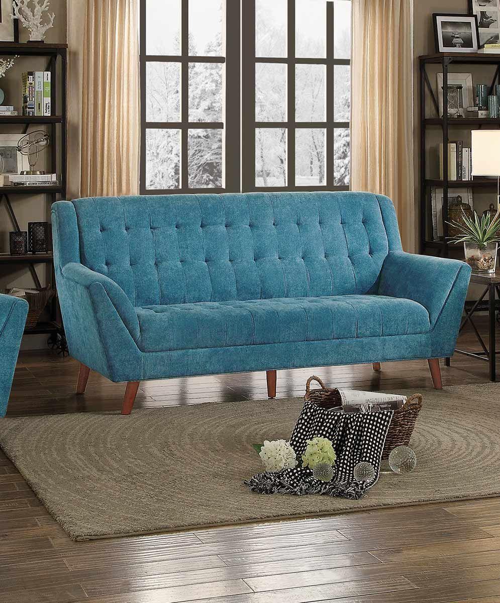 Homelegance Erath Sofa Set Blue Fabric Wooden Sofa Sofa Colors Sofa Set