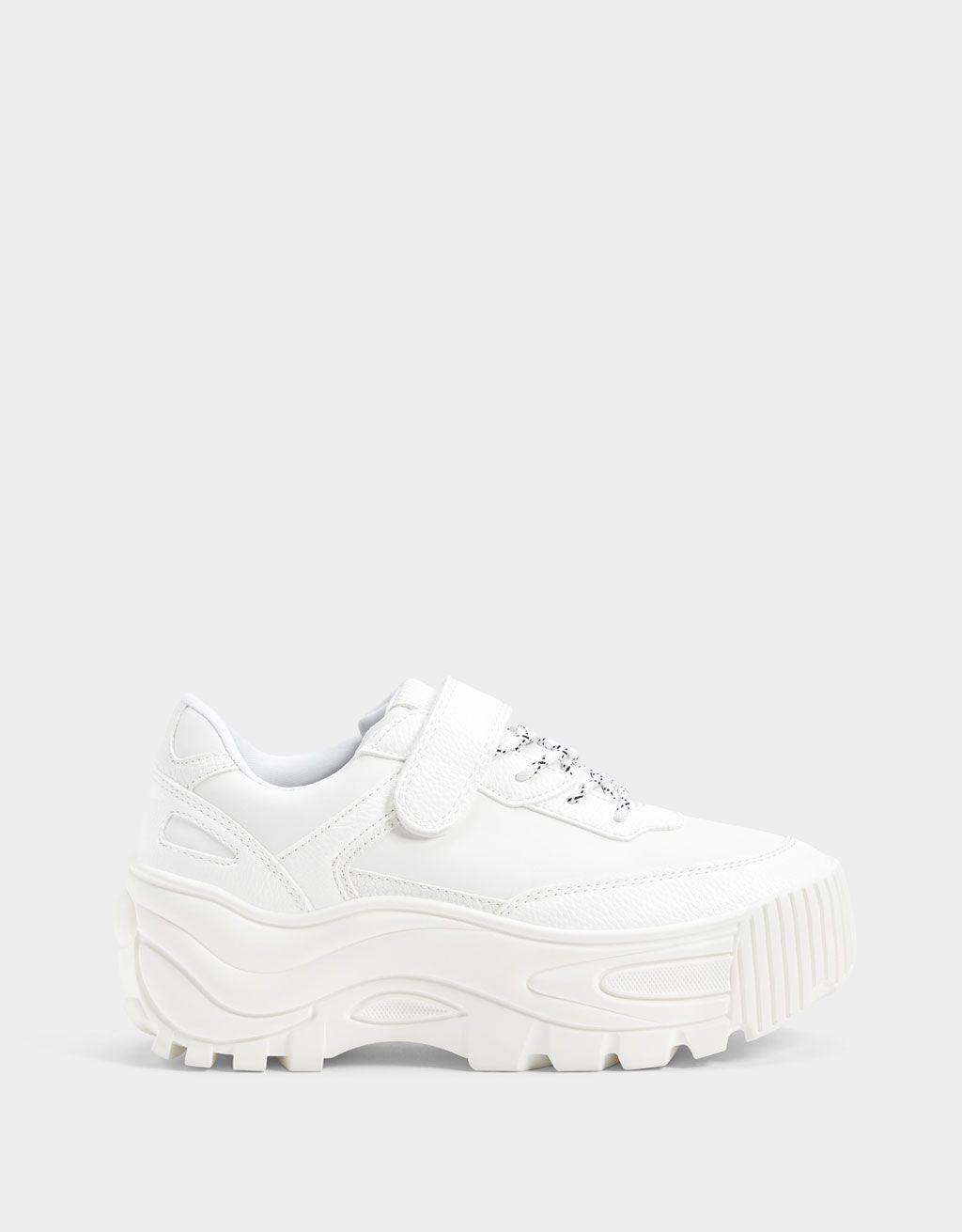 new product 54236 821d0 Monochrome platform trainers - Shoes - Bershka Israel