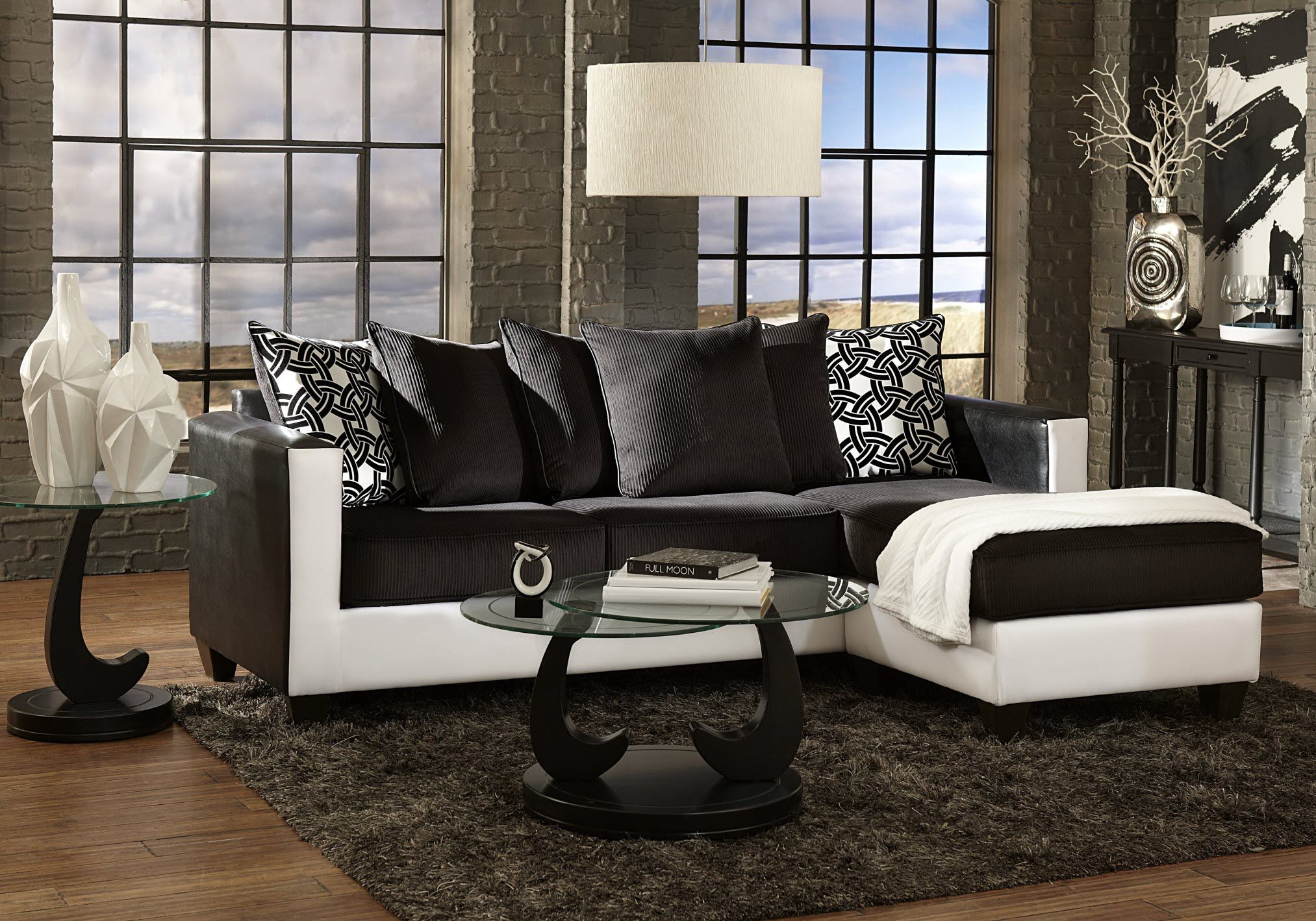 7880 San Marino Ice Two Piece Sectional Sofa
