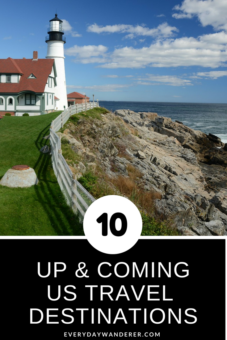 Portland, Maine + 9 other up & coming US travel destinations you'll want to visit #portlandmaine #maine #travel #US #destinations #vacation #explorer #wanderers #lighthouses