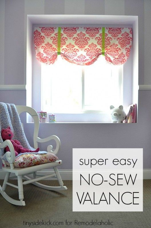 This extremely easy no sew window valance comes together in just 20 ...
