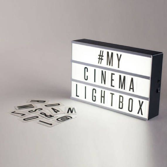 Light Up Theater: Light Up Letter Box Home Cinematic Sign Led Party Wedding
