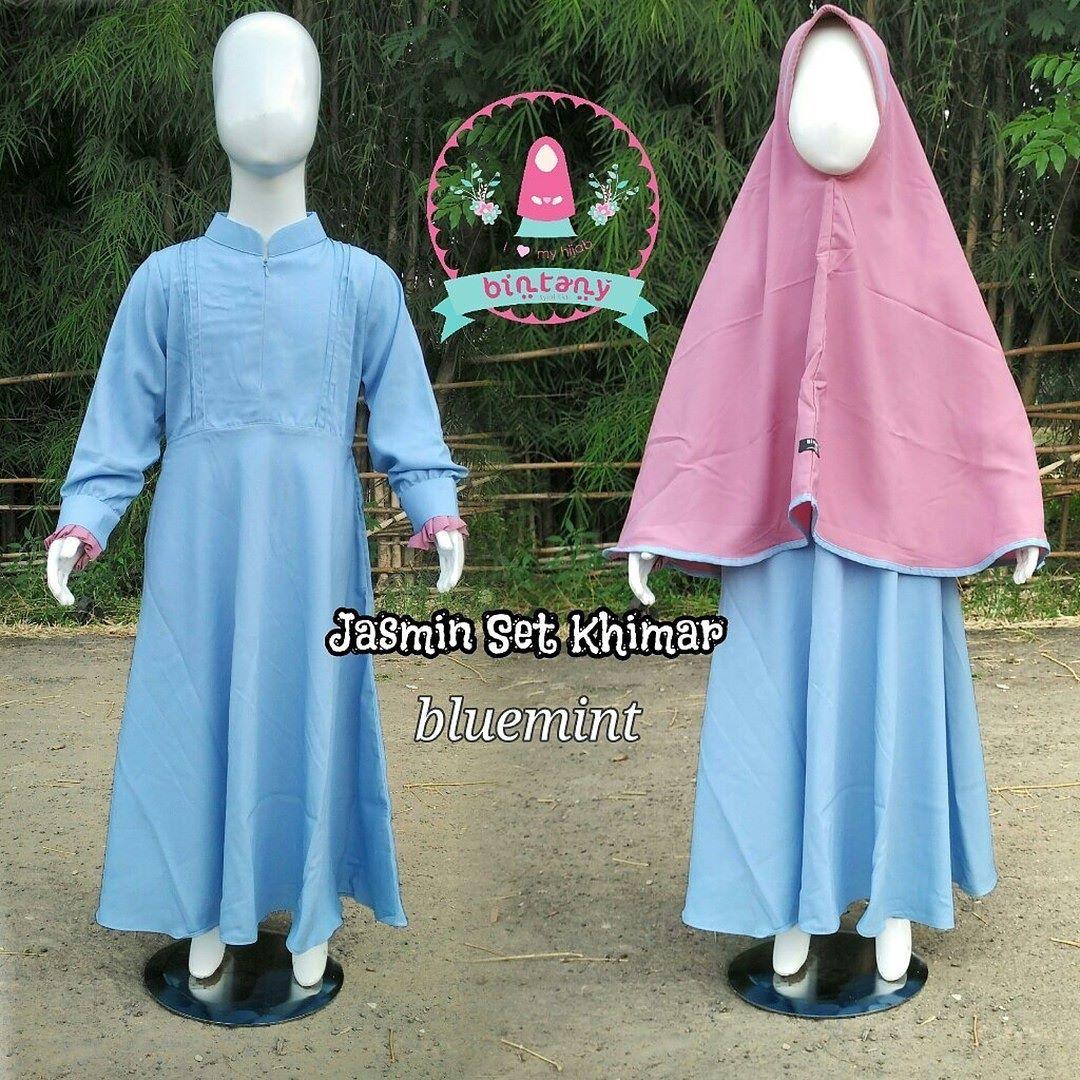Size 6 5 7 Tahun Bahan Jersey IDR 68000 Gamis Syari Anak