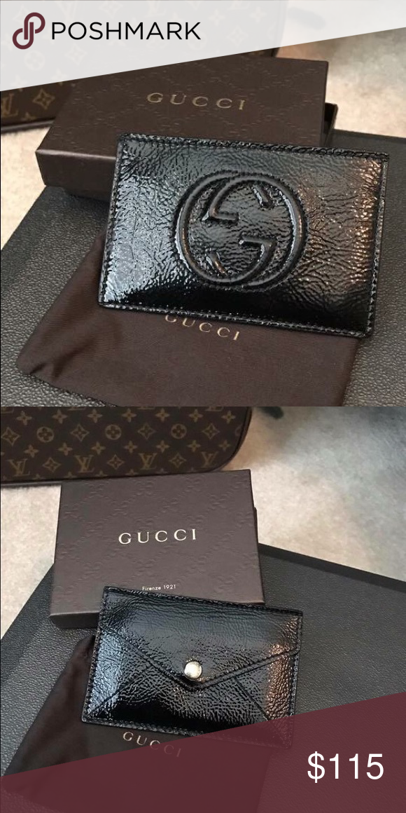 d1c112eab Authentic Black Gucci card holder Hardly used, authentic Gucci card holder Gucci  Bags Wallets