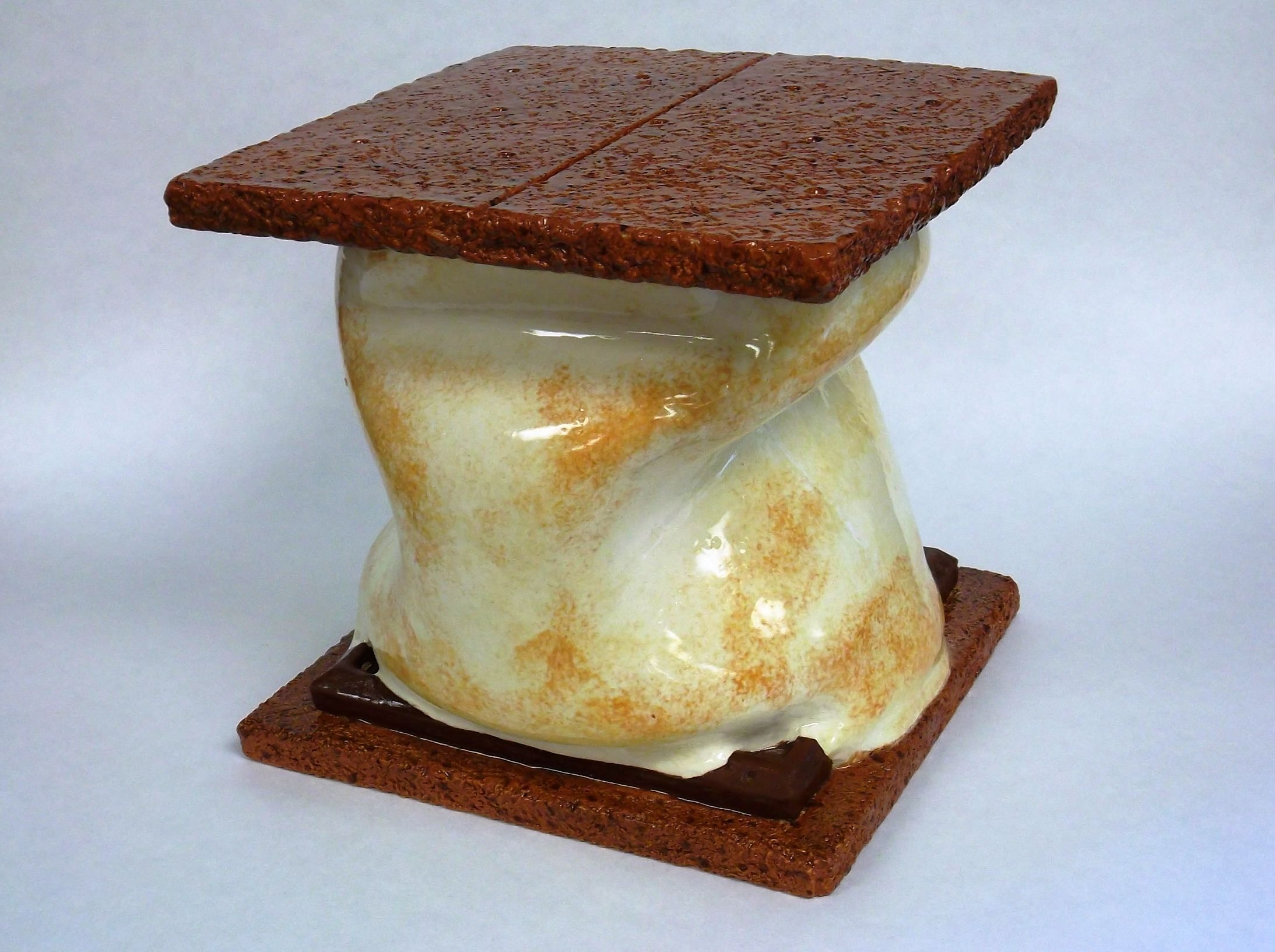Ceramic Container With Lid Based On Food Ceramiccontainer Ceramicfood Clay Smores Food Sculpture Clay Box Ceramic Clay