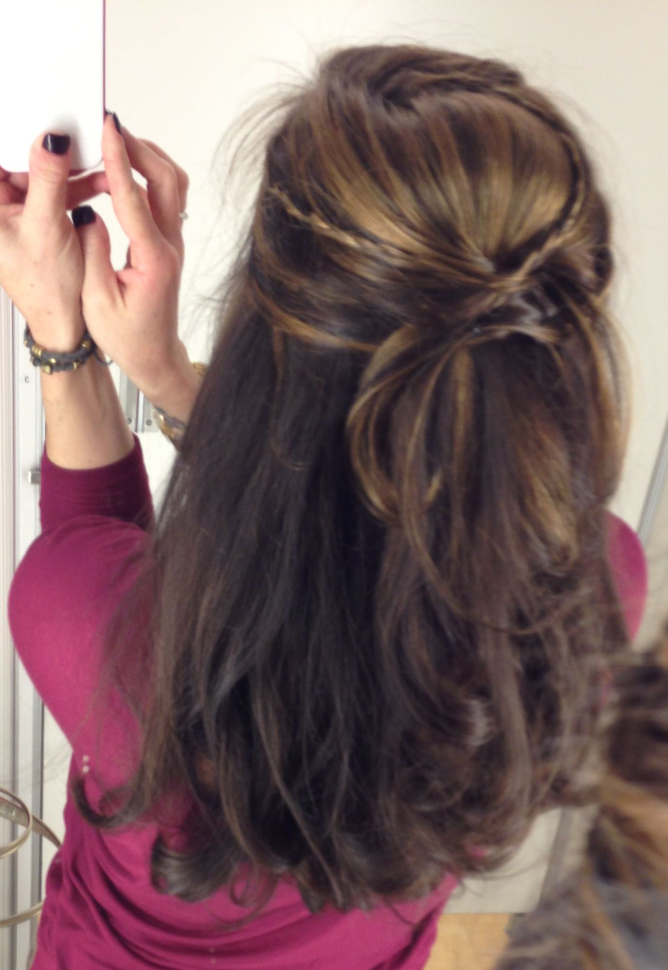 Cute hair do by Mandy @ Halos salon