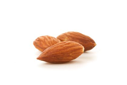 """Almonds are packed full of vitamin E and are rich in monounsaturated fat, which is a """"good"""" fat known for lowering cholesterol and keeping cell membranes strong and intact."""