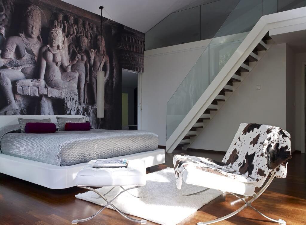 Luxus Schlafzimmer mit Galerie - Inneneinrichtung Designhaus Patel - luxus schlafzimmer design