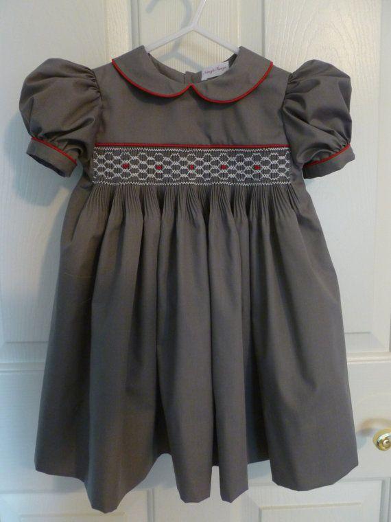 Hand Smocked Toddler Dress Size 24 Months by NancysFancysDesigns, $55.00