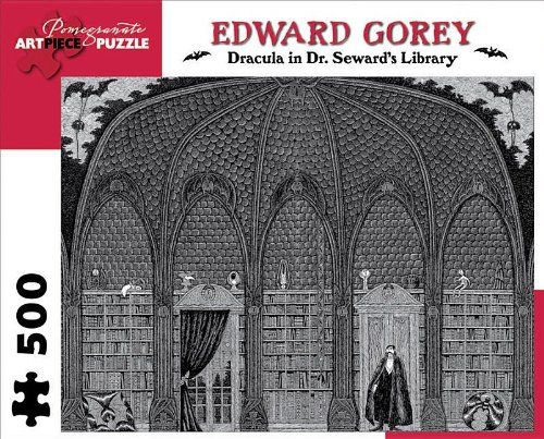 Edward Gorey - Dracula in Dr. Seward's Library: 500 Piece Puzzle (Pomegranate Artpiece Puzzle)
