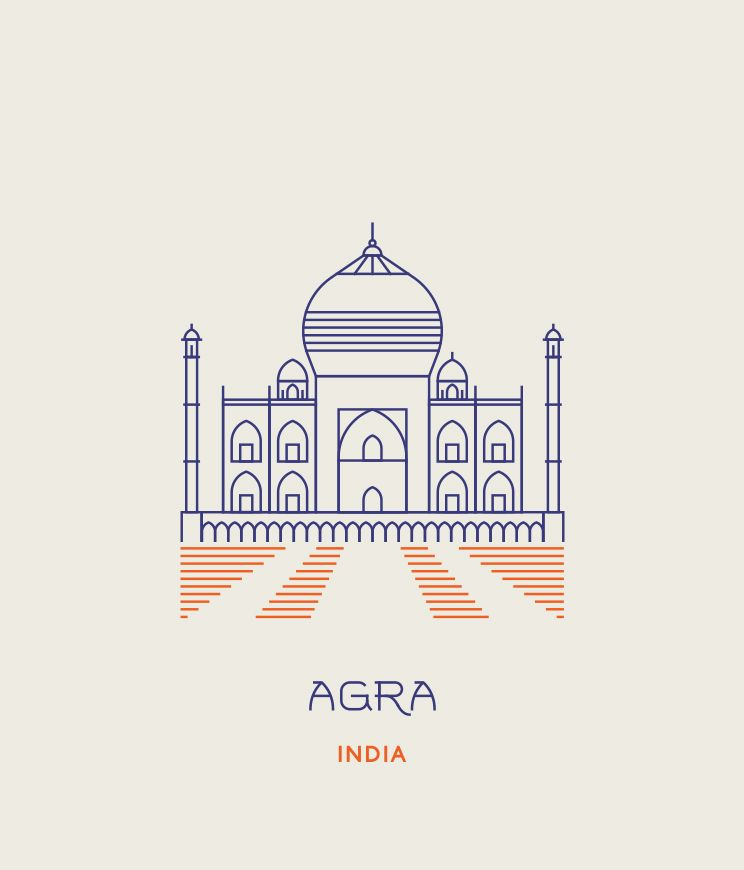 Line Icons Of The World S Most Famous Landmarks With Images