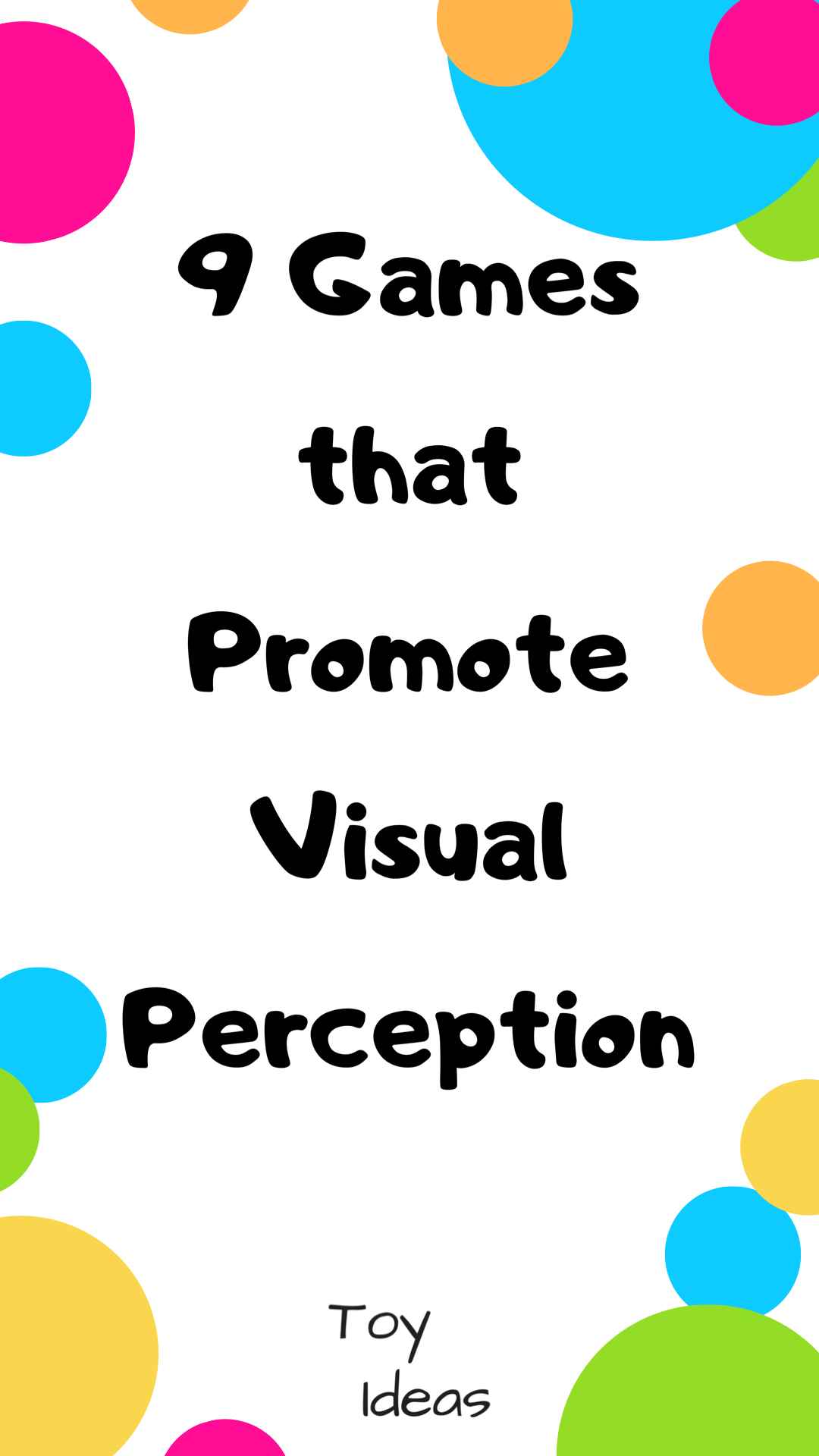 9 Games To Promote Visual Perception In