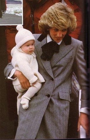 Diana, Princess of Wales with Prince Harry.